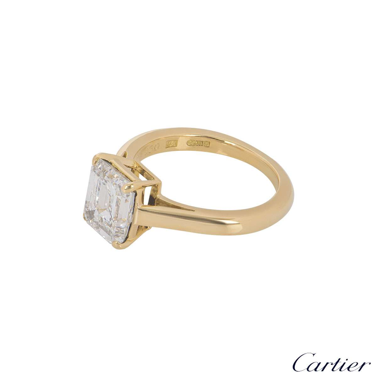 Cartier Yellow Gold Diamond 1895 Solitaire Ring 1.84ct E/VS1
